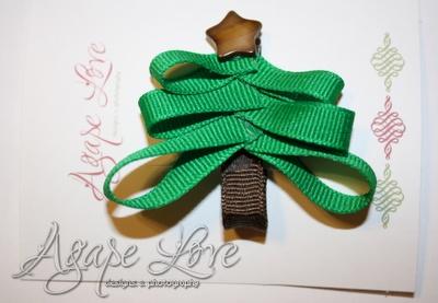 Christmas tree hair clip