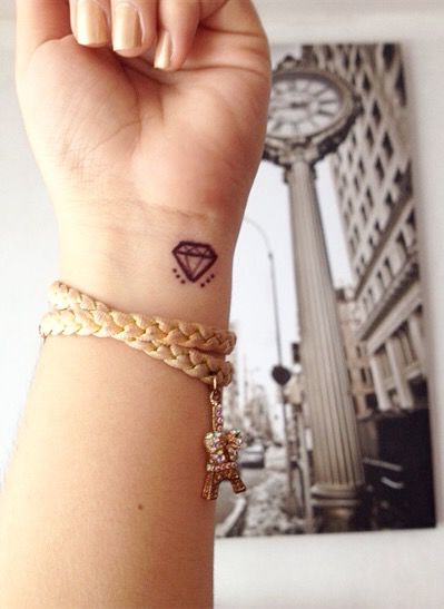 small diamond tattoo idea #ink #YouQueen #girly #tattoos