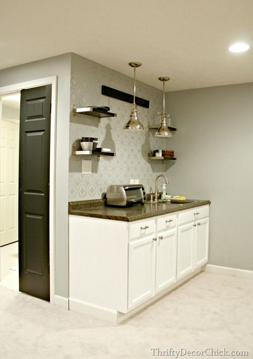 Finished Basement Kitchenette Decor Pinterest Nice