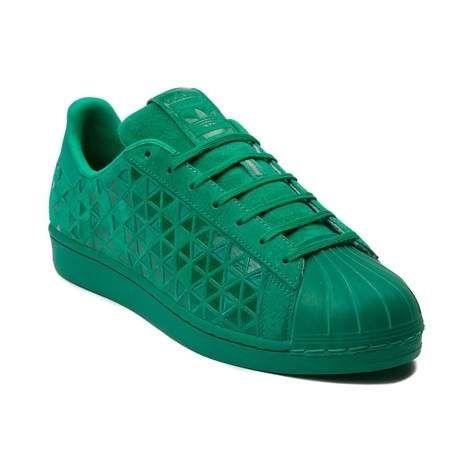 scamosciata in pelle Superstar verde Adidas 1FBfwfx