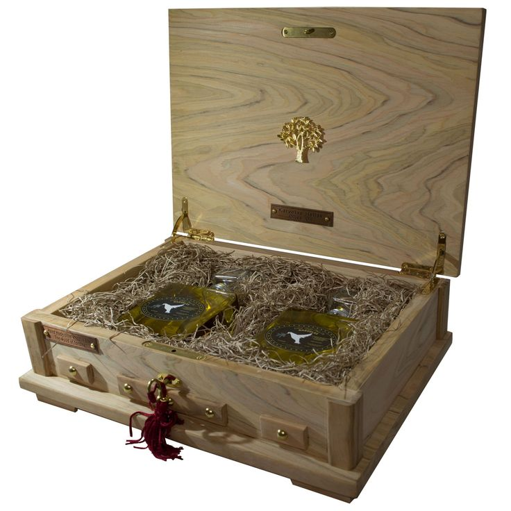 Show details for Handmade Wooden Case From Olive Oil Wood With Extra Virgin Olive Oil 200ml
