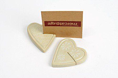 Altromercato - Cuore portafoto in pietra saponaria naturale