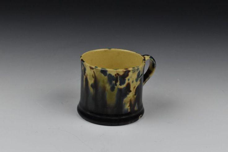 19th Century Bennington Pottery Flint Enamel Childs Mug