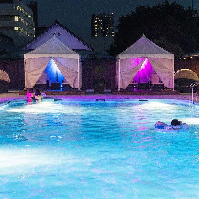 東京 品川 グランドプリンスホテル新高輪 のナイトプール体験