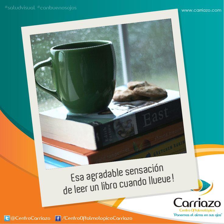 Me gusta leer cuando llueve!  twitter: @Carriazo Centro Oftalmológico www.carriazo.com