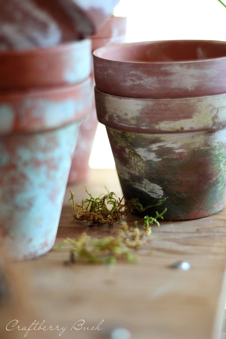 How to Make Terra Cotta Pots Chippy --