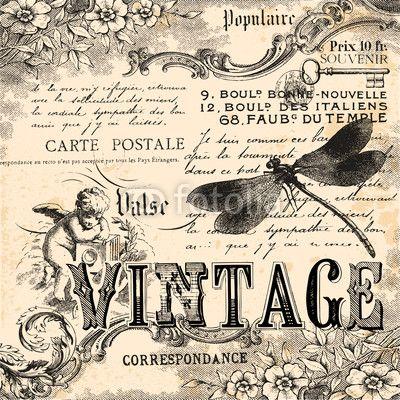 Finire di conrollare per gli immagini vintage. Vintage collage background di lynea, file vettoriale royalty free #50349663 su Fotolia.com