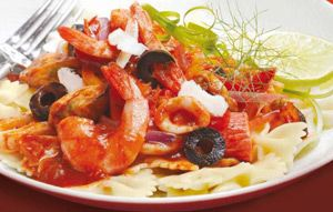 SPAR - Seafood Pasta With Tomato And Olives Recipe