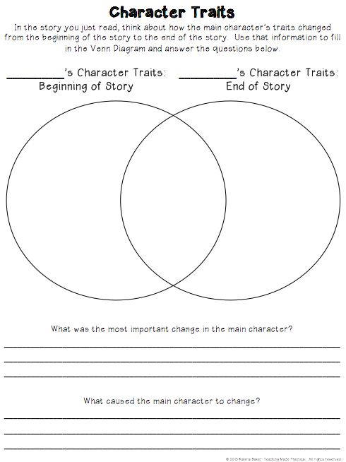 Free Character Traits Graphic Organizer - Have students compare the character…