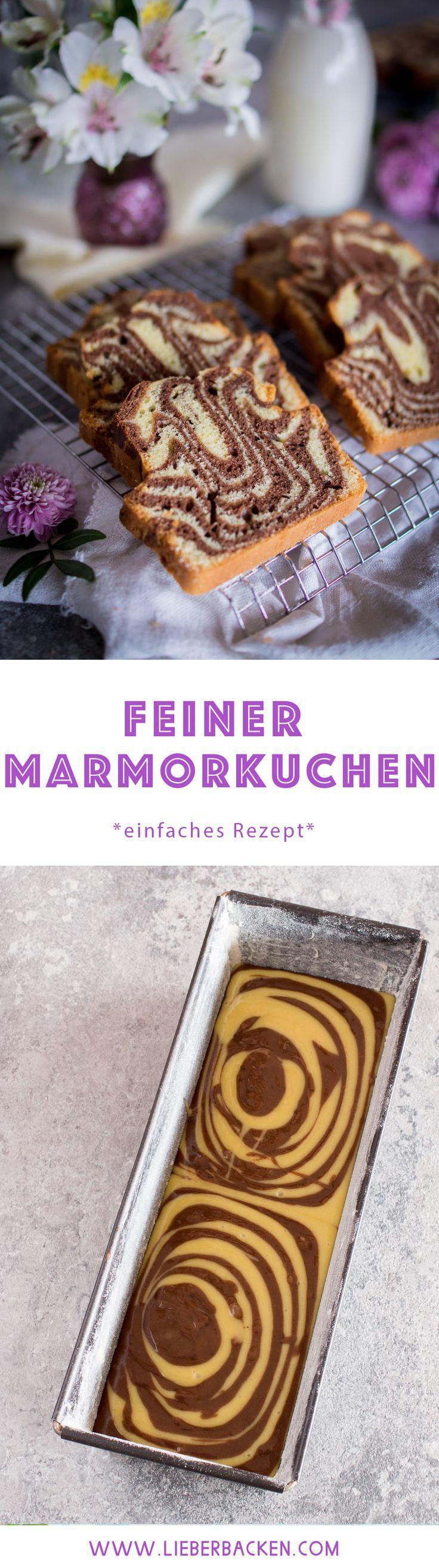 Einfaches Rezept für einen Marmorkuchen / Kastenform #lecker #marmorkuchen #ad