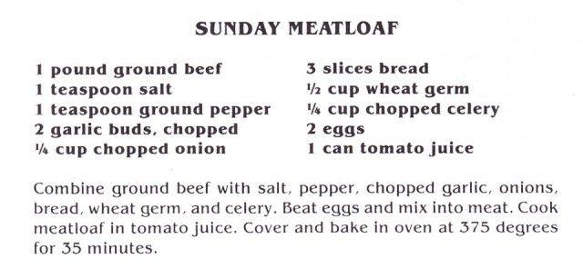 Elvis Presley's Sunday Meatloaf - Fit For A King