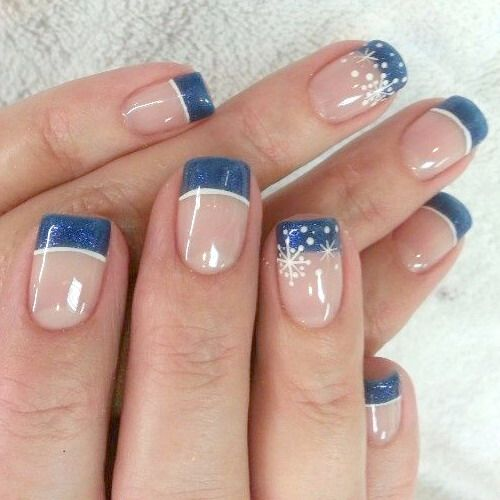 Blue Tip Nail Designs