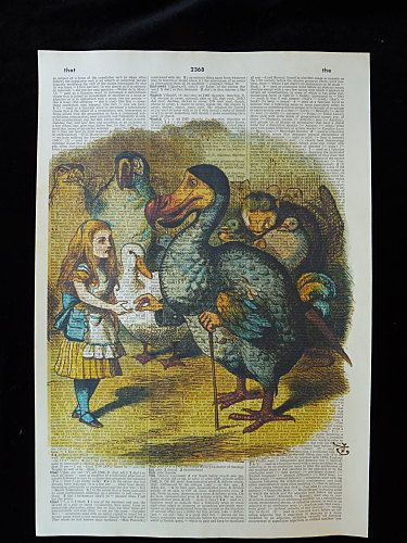 Alice in Wonderland Wall Art Print No.145 dodo by DecorisDesigns