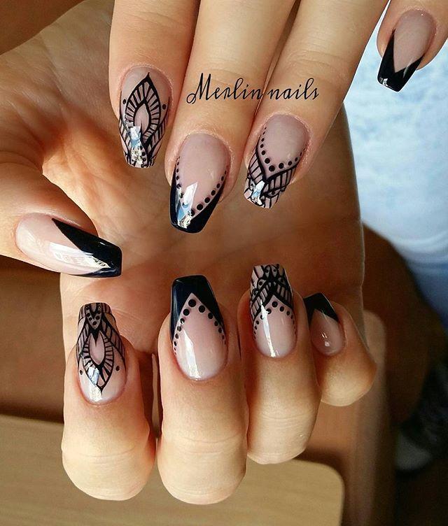 henna nail art ideas