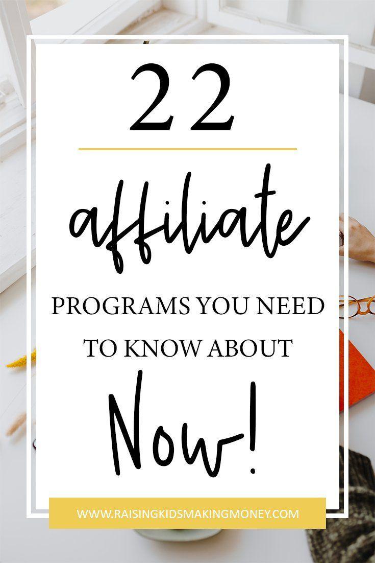 22 Partnerprogramme, die Sie jetzt kennen müssen! || Finden Sie heraus, welche Affiliate-Pr …   – Branding
