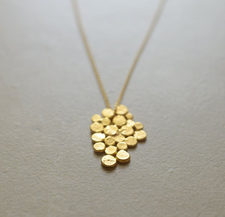 Gold+cluster+necklace+Christmas+gift+gold+fill+by+StudioBALADI