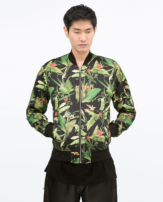Camouflage jacket zara man