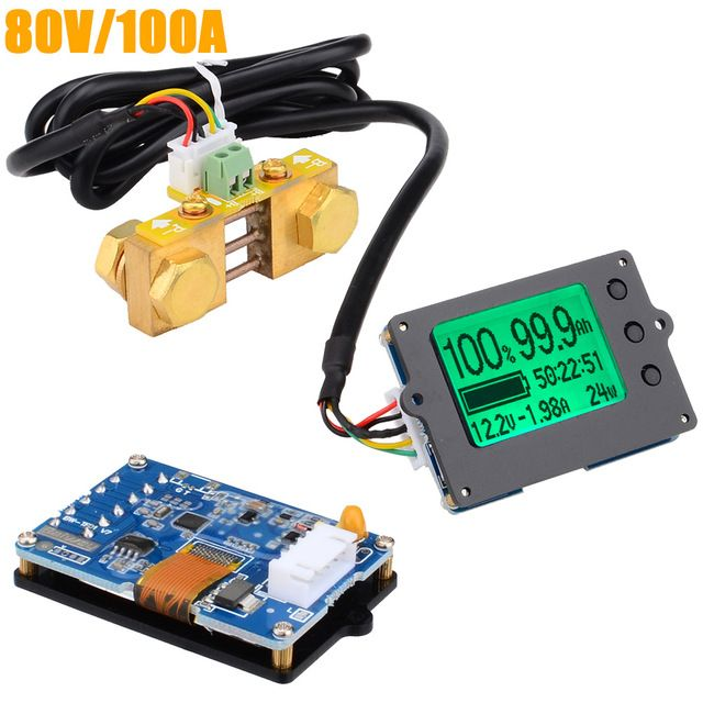 Tf01n 80v 100a Coulometer For Battery Capacity Display Tester Electric Parameter Instrument Power Display Monitor 12000760 Review Lipo Batteries Testers Tester