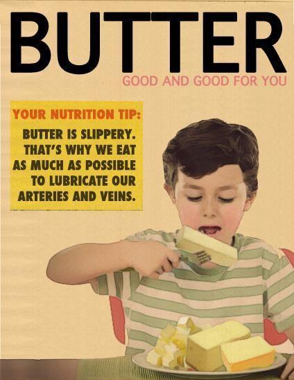 Boter advertentie.