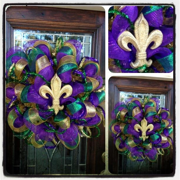 Mardi Gras Wreaths I made
