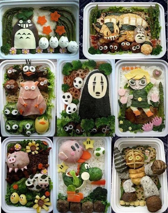 Japan food (OH MY GAWD NO FACE! AND LINK! AND SPIRITED AWAY STUFF! AND YOSHI! AND KIRBY!)