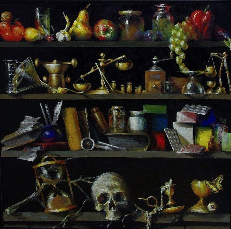 Malarstwo - bez tytułu, akryl na płycie, malowany z pamięci / My painting - no title, acrylic on board, painted from memory, imagination / 90x90 cm, 2011. http://pawgalmal.blogspot.com
