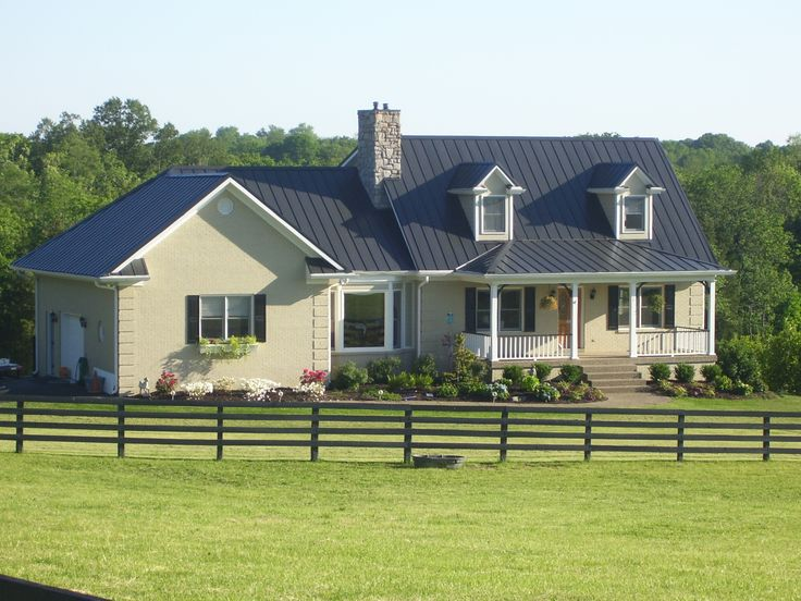 Blue Metal Roof Home Outside Living Pinterest Dark