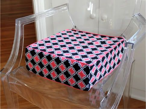 Modern & Comfy DIY Booster Seat | Prudent Baby - I'll have to see if I can make this with vinyl for easy wiping.