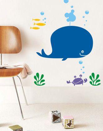 фото наклейки для ванной море, фото наклейки для кафеля кит, фото наклейка море, фото наклейки рыбки, фото интерьерные наклейки черепаха