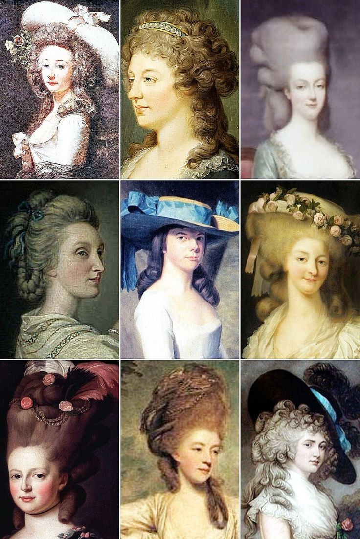 18th Century Woman's Hairstyles A collection of...