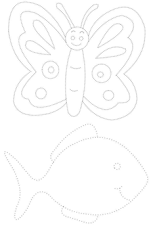 Graphisme ; dessins en pointillés