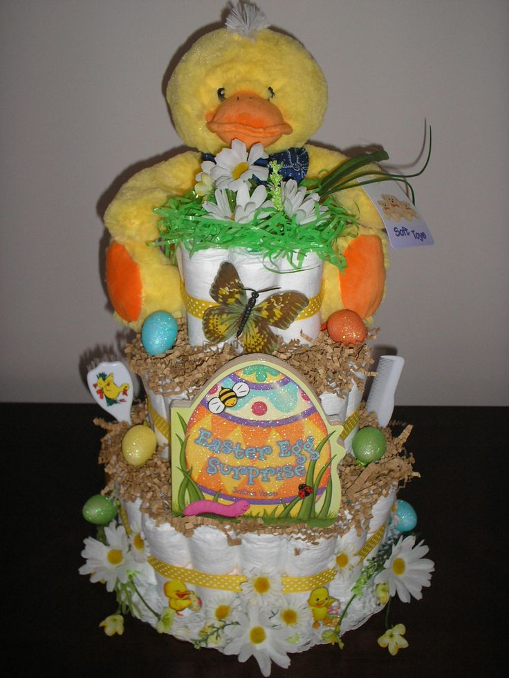 73 best baby images on pinterest baby favors diaper cakes and diaper cakes for baby shower my yellow duck 3 tier diaper cake great easter negle Images