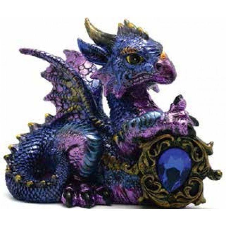 Blue Dragon with Jewel