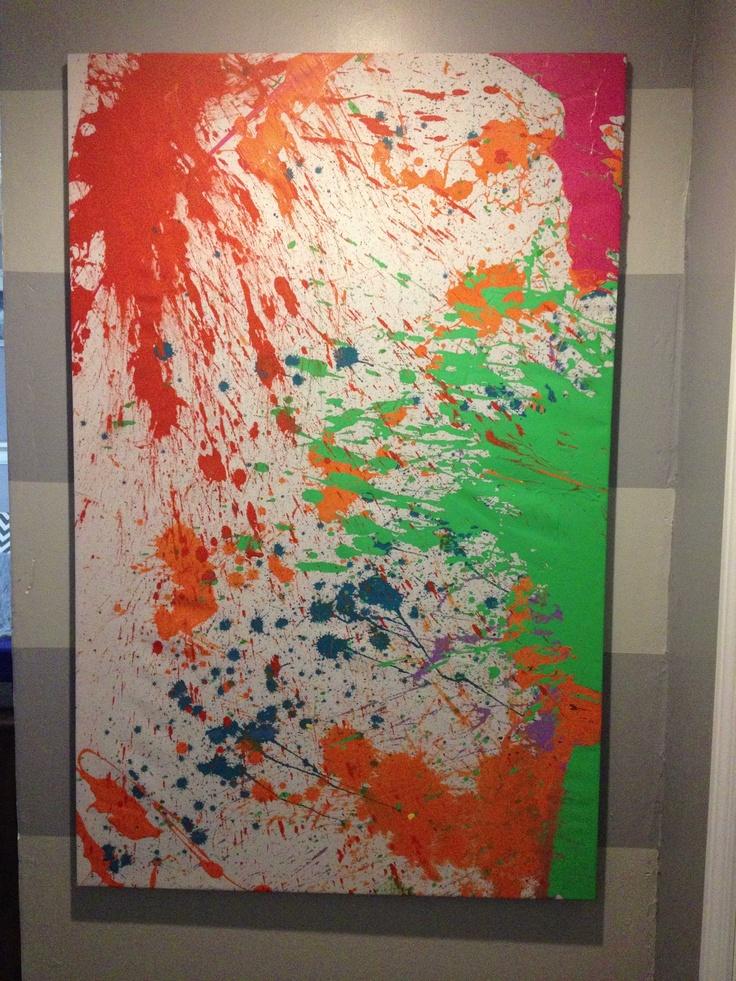 Paint Splatter Wall Art Wall Art Pinterest Paint