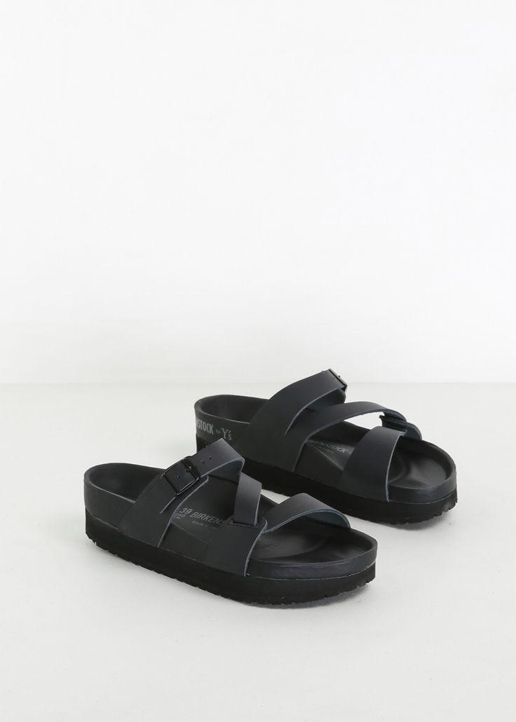 Y's by Yohji Yamamoto Birkenstock Belt Sandal (Black)