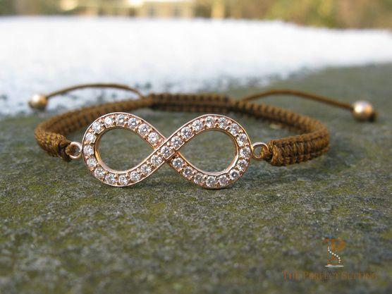 Rose Gold Diamond Infinity Bracelet