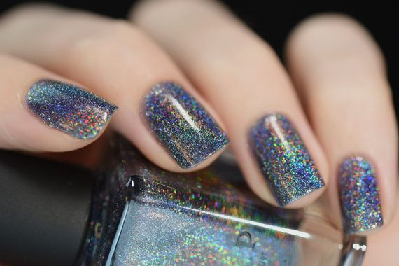 Maiden Lane Charcoal Grey Ultra Holographic Nail by ILoveNP