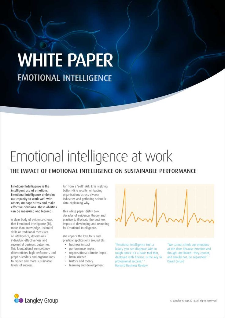 emotional intelligence essay topics Relating to others is vital in the today's workplace learn how to build your emotional intelligence (ei) with this article.