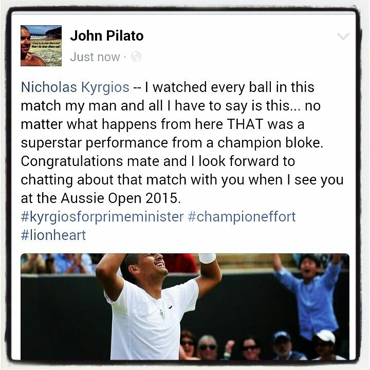So pumped for you Nick... loved every minute of this amazing match mate!