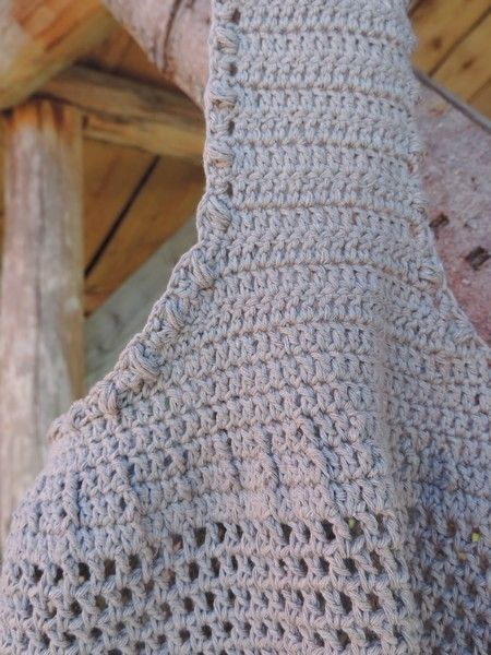 Detail pattern -FB Inushic handmade - Crochet bag - Cross Body Bag -  Beach bag - Over the shoulder bag - Handmade bag  - Summer bag - Market bag - Boho - Vintage - Shabby - Natural material - Recycled yarn - Cotton yarn