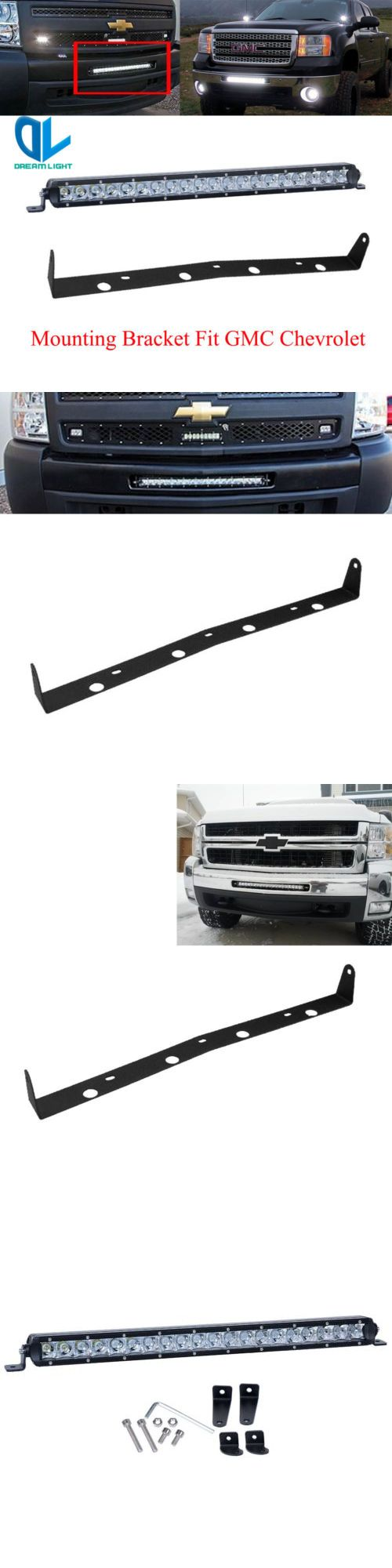Car Lighting: 20 Led Light Bar With Front Hidden Bumper Mount Bracket For Gmc Chevy Silverado -> BUY IT NOW ONLY: $110.65 on eBay!