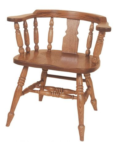 Amish Low Windsor Slot Captains Chair  Hillview Chair Collection  The Amish Low Windsor Slot Captains Chair brings the grace and beauty of the Windsor design into your home or business.