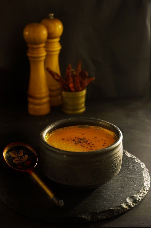 Roasted red peppers and tomato soup.
