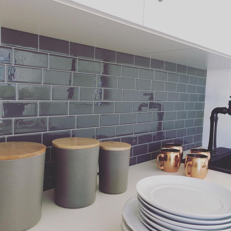 Stick On Tiles For Your Backsplash Perfect For Our Shippingcontainerhouse