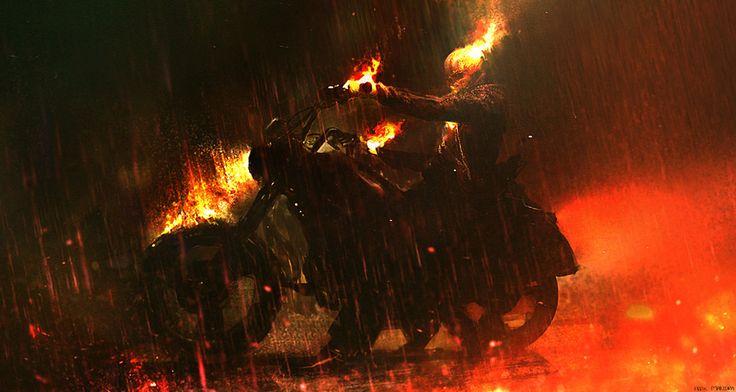 Ghost Rider: Spirit of Vengeance, Alexander Mandradjiev on ArtStation at http://www.artstation.com/artwork/ghost-rider-spirit-of-vengeance-ef544d89-8a00-44b2-ac71-28b48db49aee