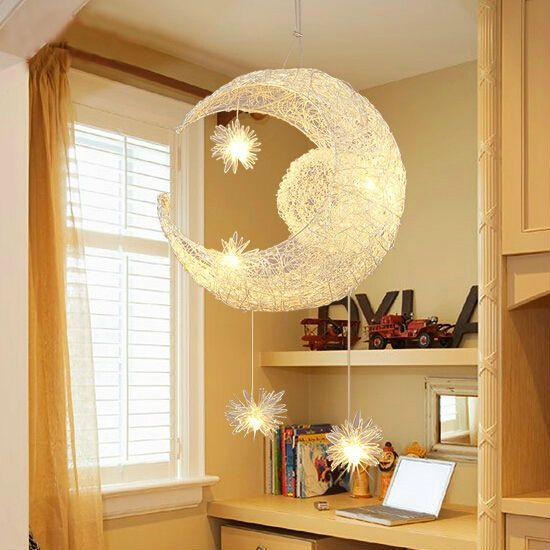 (EU Stock) Ceiling Lights Modern Moon Star Featured LED Pendant Lights Mini  Style Kitchen Lighting Ideas Dining Room Lighting Ideas Lighting Living Room  ...