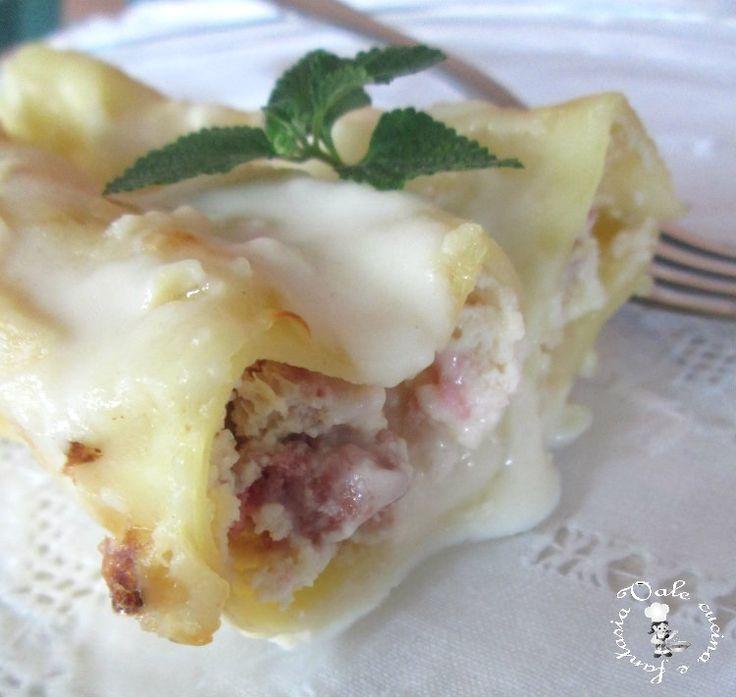 Cannelloni con ricotta e salsiccia