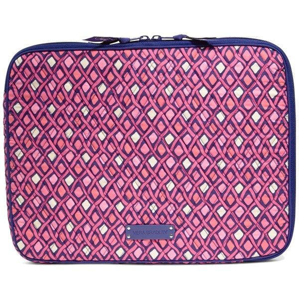 Vera Bradley Laptop Sleeve in Katalina Pink Diamonds ($38) ❤ liked on Polyvore…