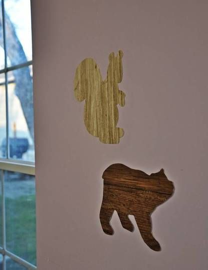 DIY Wall Decals out of Wallpaper