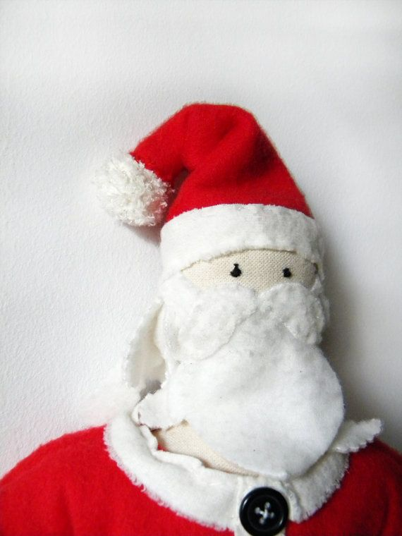 Santa Claus Doll  Ooak Christmas figure by coccinellina on Etsy, $48.00